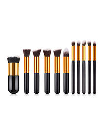 Fashion Black 10 Packs Of Five Big Five Small Makeup Brushes