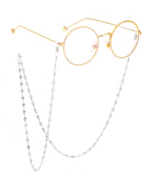 Fashion Silver Stainless Steel Heart Chain Non-slip Glasses Chain
