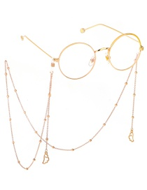 Fashion Gold Angel Wings Color Retention Beaded Glasses Chain