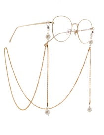 Fashion Gold Hollow Chain Hanging Neck Pearl Glasses Chain