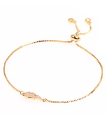 Fashion Angel Wings Gold Micro-inlaid Pull-out Gold Thin Bracelet