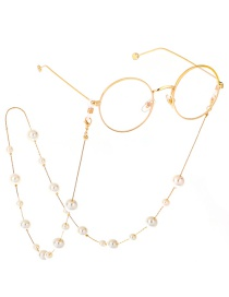 Fashion Gold Size Pearl Sweater Chain Glasses Chain Two Models