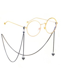Fashion Black Hanging Neck Painted Diamonds Do Not Fade Chain Glasses Chain