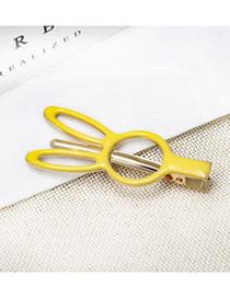 Fashion Yellow Drip Metal Duckbill Clip
