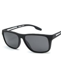 Fashion Sand Black Full Gray Driving Polarized Sunglasses