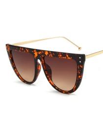 Fashion Amber Box Double Tea Sunglasses