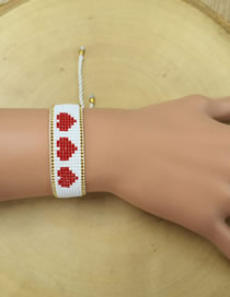 Fashion White Rice Beads Woven Bracelet