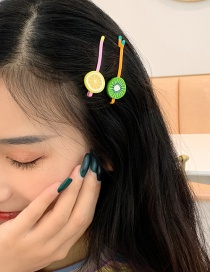 Fashion Refreshing Lemon Cartoon Fruit Hair Clip