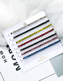 Fashion Color Acrylic Diamond Hair Clip Seven-piece