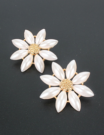 Fashion White S925 Silver Needle Rice Beads Pearl Earrings