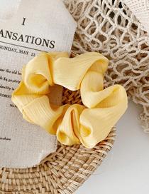 Fashion Banana Yellow Pearl Satin Fabric Ring