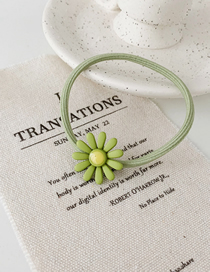 Fashion Sunflower - Green Rubber Band Contrast Flower Hair Rope