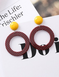 Fashion Brown Ringlet Point Acrylic Earrings