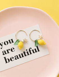 Fashion Yellow Star Lemon Strawberry Earrings