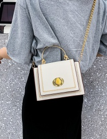 Fashion White Metal Knotted Clasp Rivet Shoulder Shoulder Bag