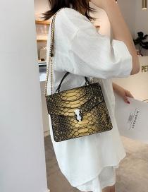 Fashion Yellow Serpentine Shoulder Bag Shoulder Chain Bag