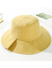 Fashion Ginger Yellow Cotton Foldable Fisherman Hat