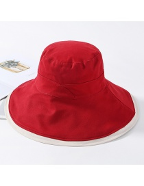Fashion Red Stitching Contrast Double-sided Wearing Sunhat