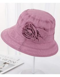 Fashion Rose Pink Rabbit Ear Flower Shade Cap