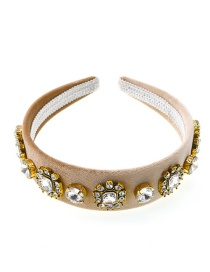 Fashion White Full Diamond Pearl Headband