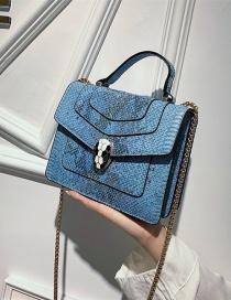 Fashion Blue Square Shape Bags