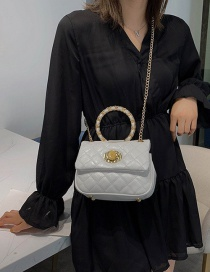 Fashion White Ring Chain Shoulder Messenger Handbag