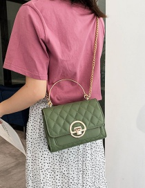 Fashion Green Grids Pattern Bag