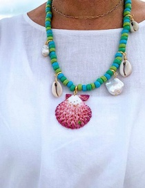 Fashion Green Beaded Shell Necklace