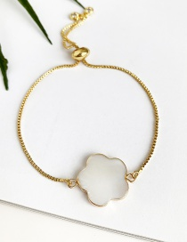 Fashion Gold Copper Shell Flower Bracelet
