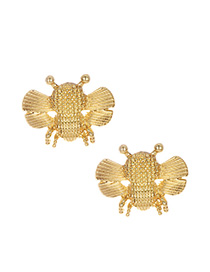 Fashion Gold Alloy Bee Stud Earring