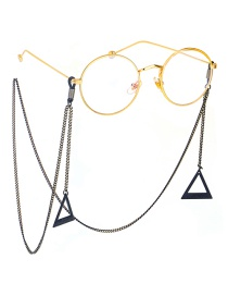 Fashion Black Hanging Neck Large Triangle Chain Glasses Chain