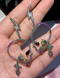 Fashion Color S925 Silver Pin Micro-inlaid Zircon Ant Beetle Pearl Earrings