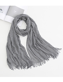 Fashion Lattice Plaid Striped Modal Scarf Shawl