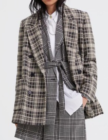 Fashion Plaid Plaid Coat