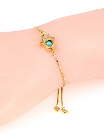 Fashion Gold Copper Micro-inlaid Palm Pull Bracelet