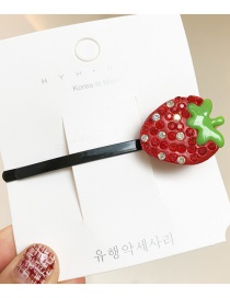 Fashion Big Strawberry/hairpin Cartoon Fruit Studded Rubber Band