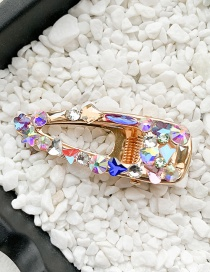 Fashion Small/water Drop Hollow Clip Colorful Diamond Crystal Hairpin