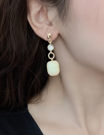 Fashion Creamy-white Alloy Earrings