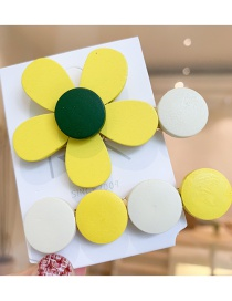 Fashion Lemon Yellow Flower Hair Clip