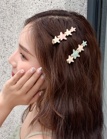 Fashion Light Green Little Star Hairpin