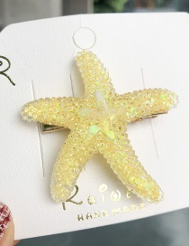 Fashion Yellow Starfish Hairpin