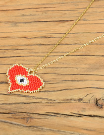 Fashion Red Love Eyes: Rice Beads: Woven Necklace