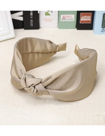 Fashion Beige Cloth Wide-brimmed Knotted Headband