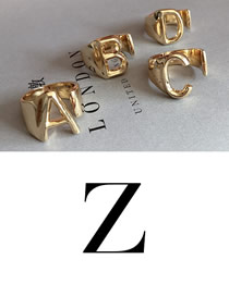 Fashion Z Gold Letter Open Ring