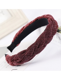 Fashion Red Skin Bright Silk Braided Knotted Headband