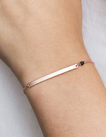 Fashion Rose Gold Inline Geometry Stainless Steel Bracelet