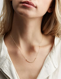 Fashion Gold Curved Stainless Steel Necklace