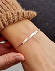 Fashion Rose Gold Stainless Steel Gold Plated Adjustable Bracelet