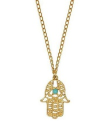 Fashion Gold Palm Mascot Lucky Transport Necklace