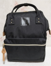 Fashion Black Canvas Portable Backpack